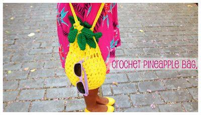 the dream in vintage blog.: HandMade: Crochet Pineapple Bag.