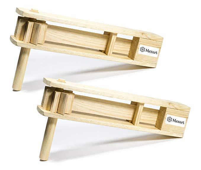 Wondrous Amazon Com 2 Pack Wooden Handmade Noisemaker Grogger 15 Machost Co Dining Chair Design Ideas Machostcouk