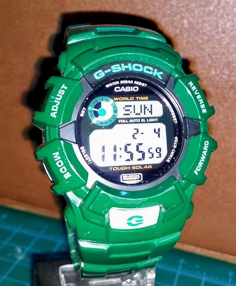 Casio G Shock G2300gr 3 Green Collection Solar Used Casio G Shock Casio Green Collection