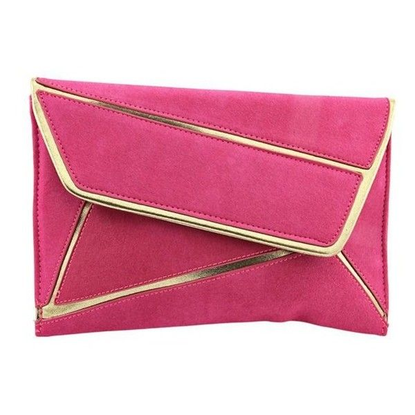 Shiraleah Shiraleah Lolita Women Synthetic Clutch Nwt (407286801) ($12) ❤ liked on Polyvore featuring bags, handbags, clutches, pink, imitation purses, faux-leather handbags, pink handbags, shiraleah handbags and pink purse