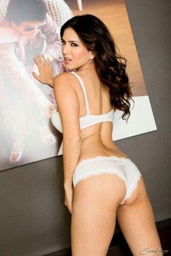 Sunny Leone white lingerie