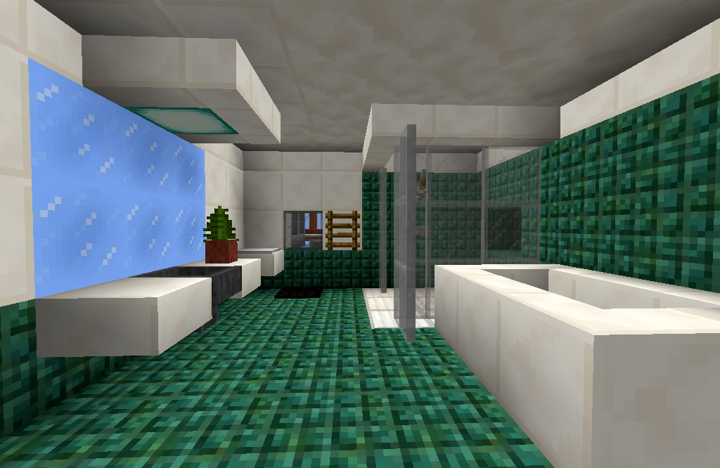 Minecraft Badezimmer Ideen Badezimmermobel Dekoideen Mobelideen Minecraft House Designs Bathroom Design Minecraft House Tutorials