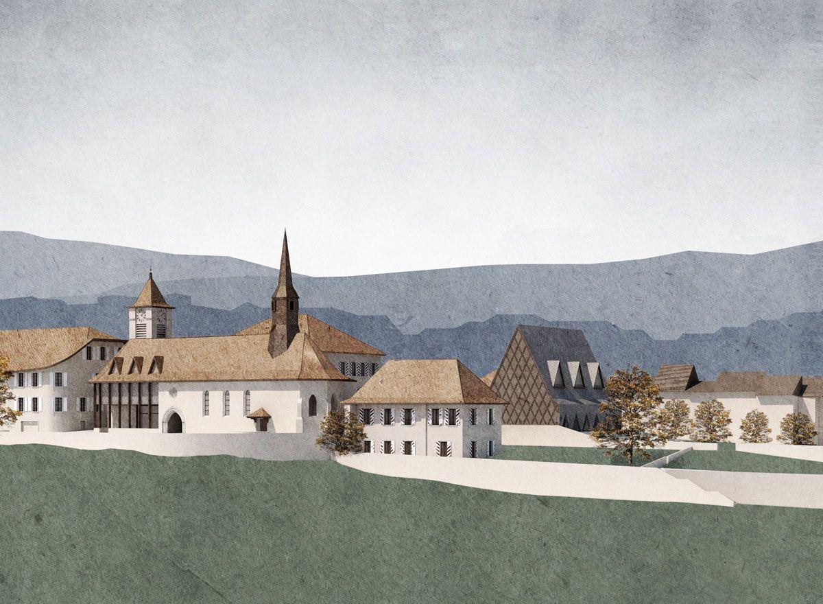 Musée à pully charles pictet architectes associÉs drawing