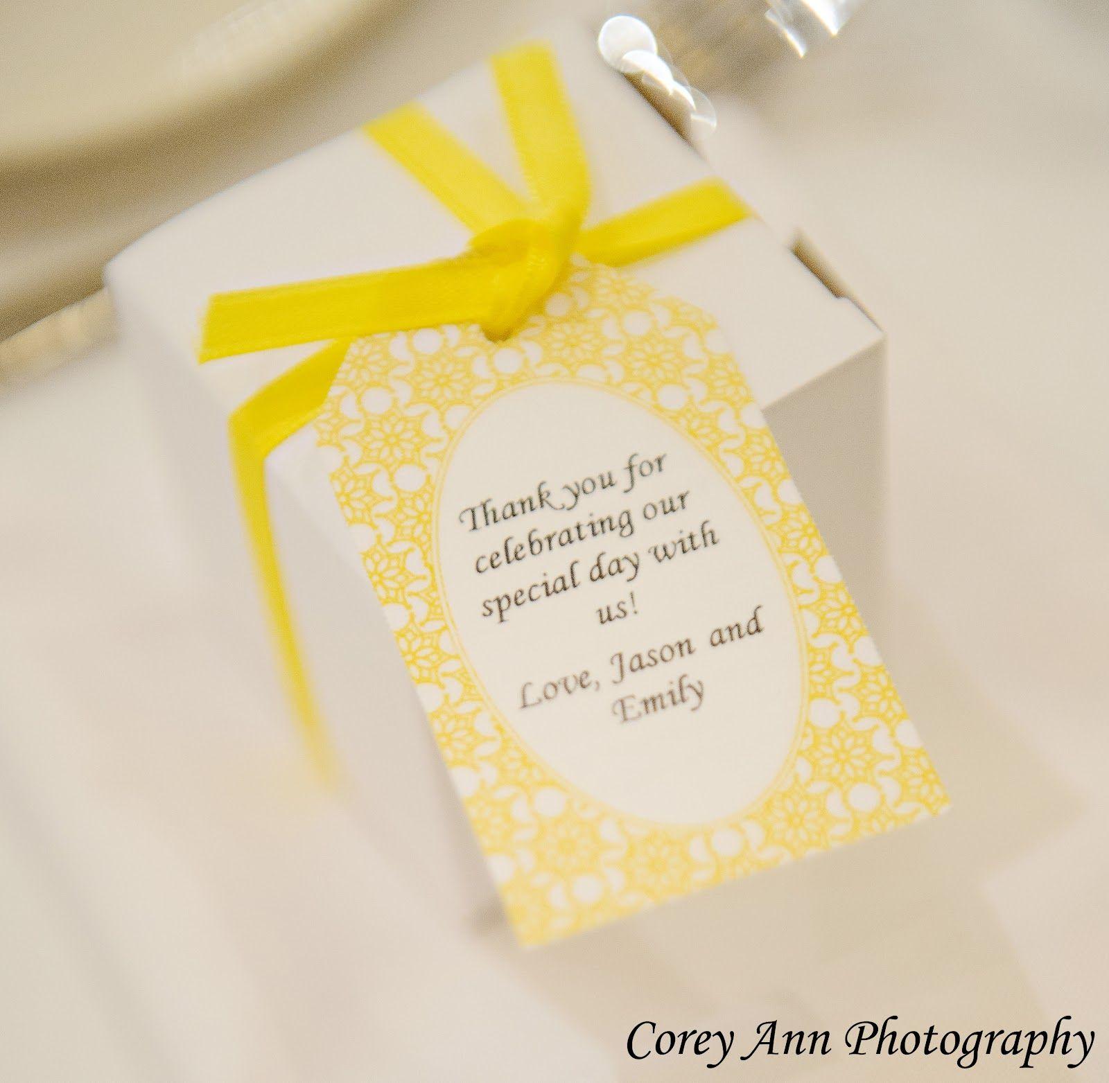 Texas Life: DIY Yellow Wedding Favors Keywords: #yellowweddings ...