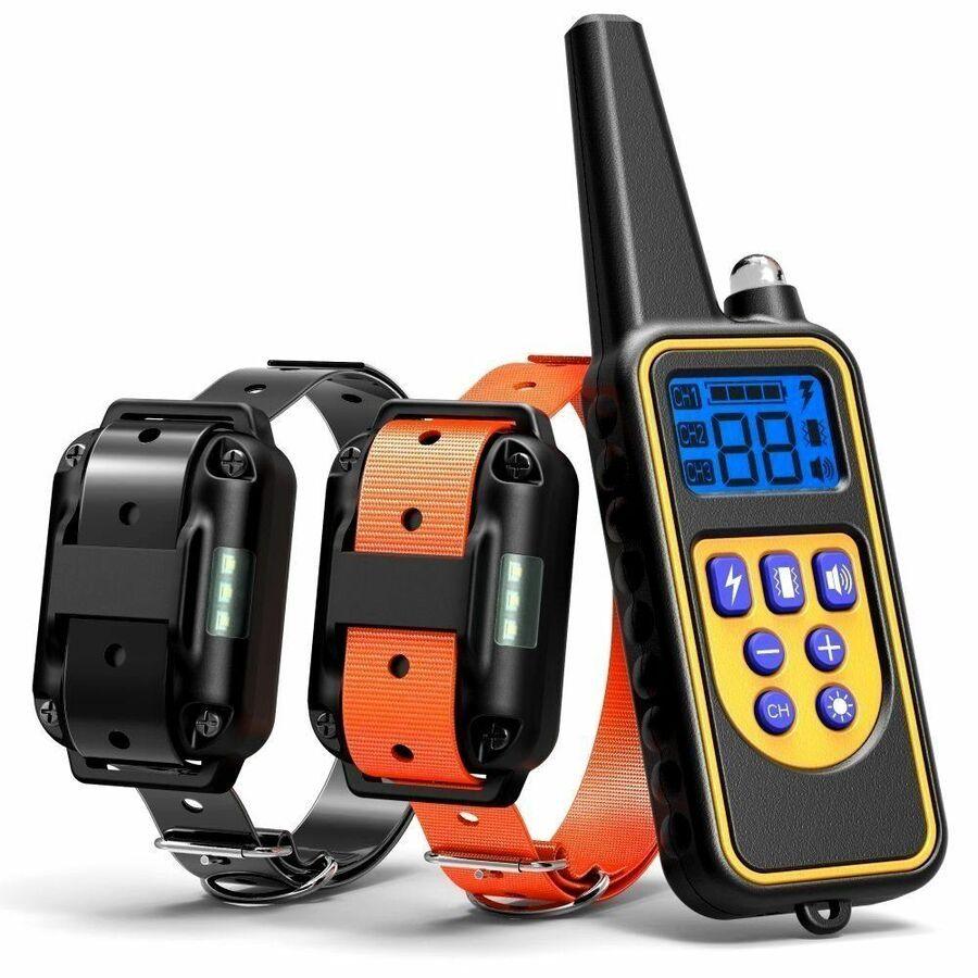 Waterproof Dog Shock Training Collar Electronic Remote 885 Yards