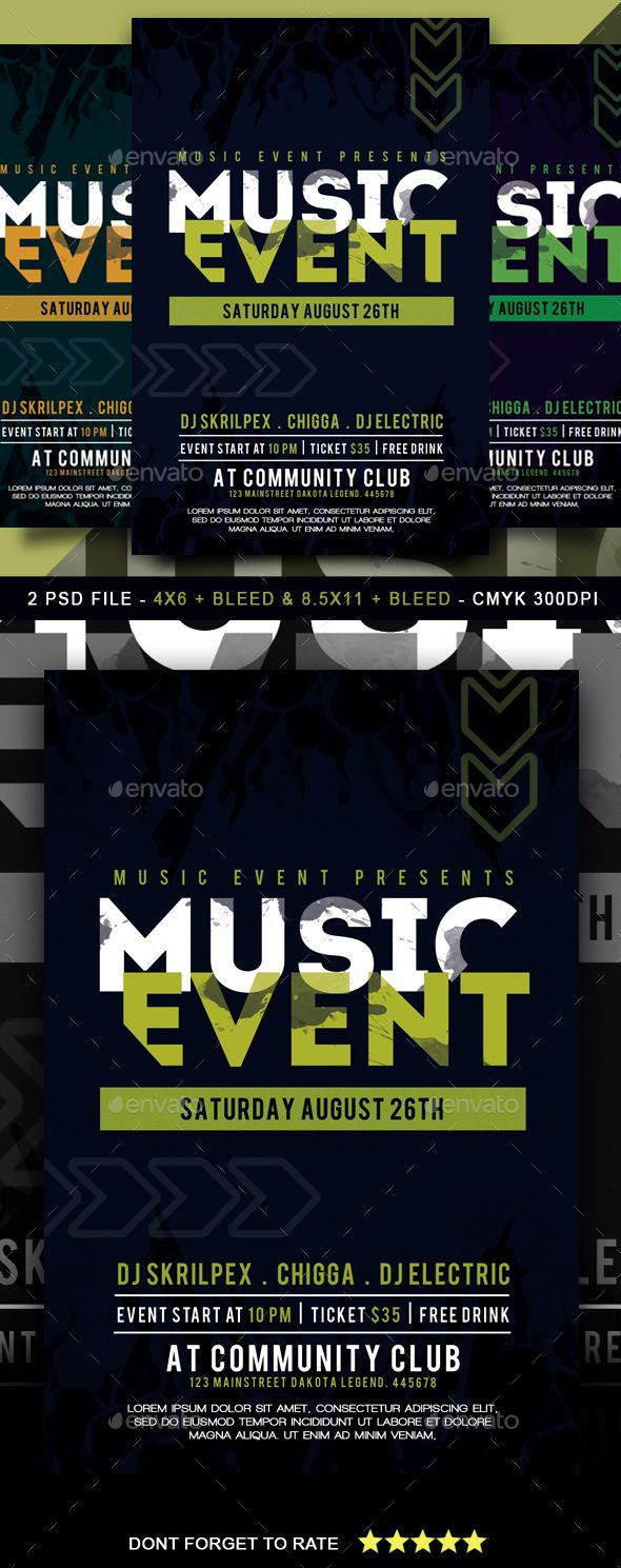 Music Event Flyer Clubs Parties Events Event Flyer