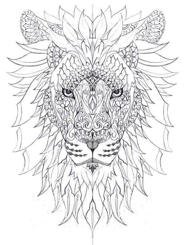 Kleurplaten Mandala Leeuw.Pin Van Kleurmadammeke Op Kleuren Dieren Kleurplaten Dieren
