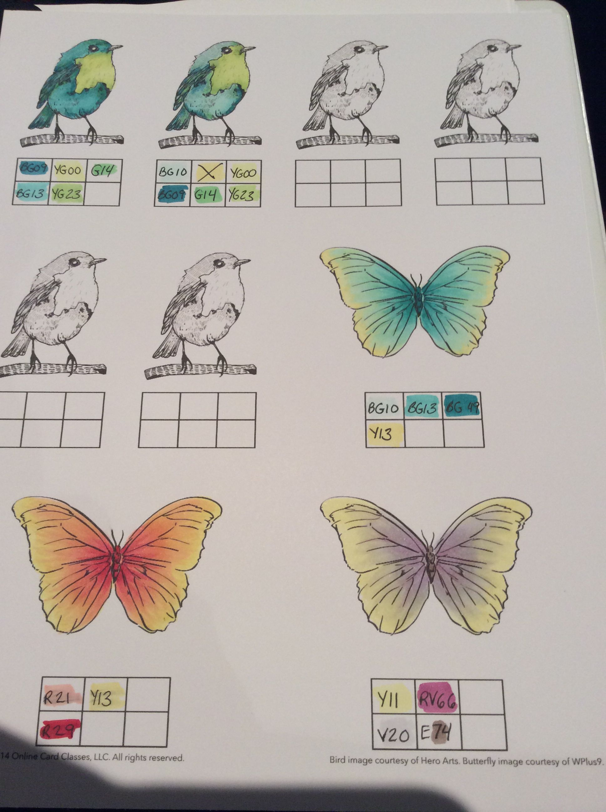 Copic Color Blending Ideas From An Online Copic Class