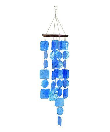 Blue Capiz Wind Chime Chimes Shell