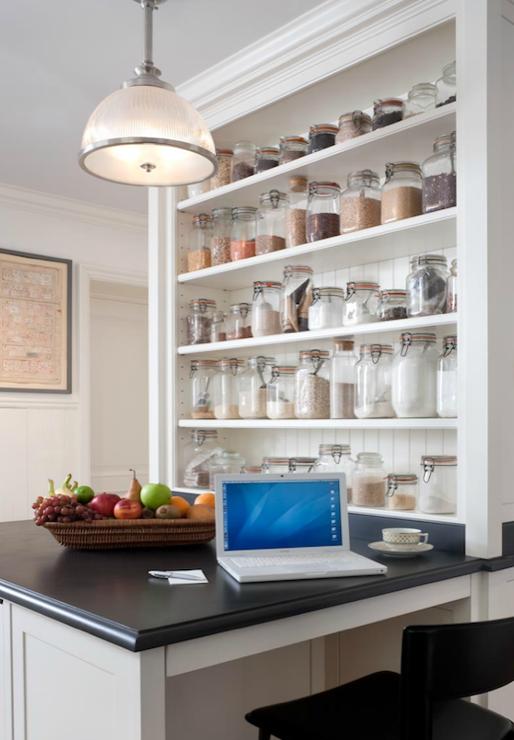 John B Murray Architect kitchens open shelves spice rack