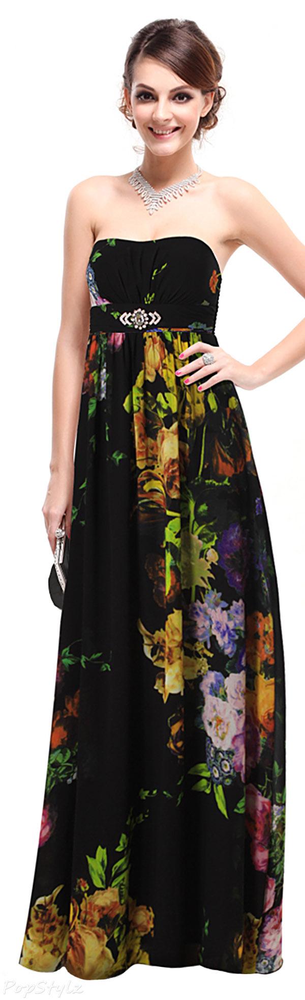 Floral Maxi Evening Dress