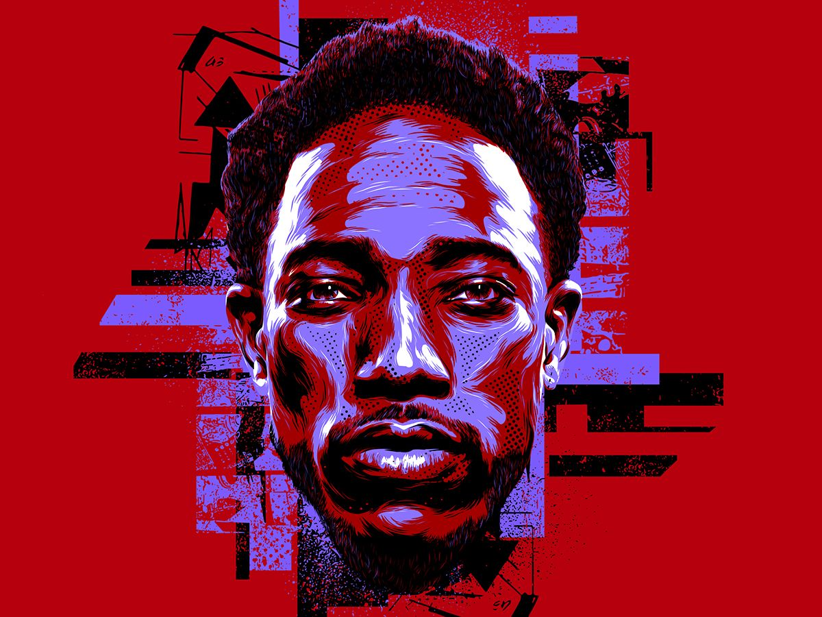 Nba Dope Art: Geometric Portrait, Nba Art, Portrait