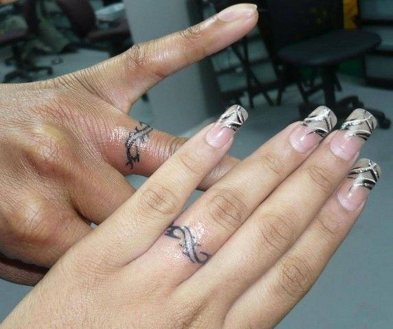 Matching Wedding Ring Tattoos 3463.jpg | jewelry | Pinterest ...