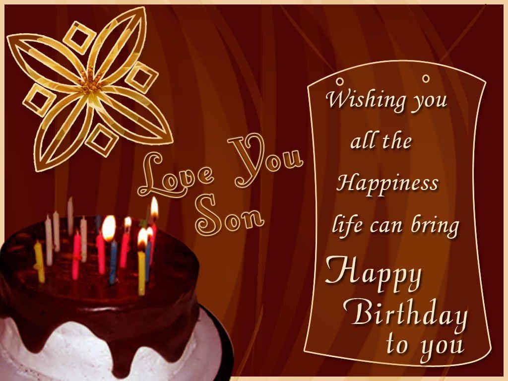 Wishing You A Very Happy Birthday Son Happy birthday