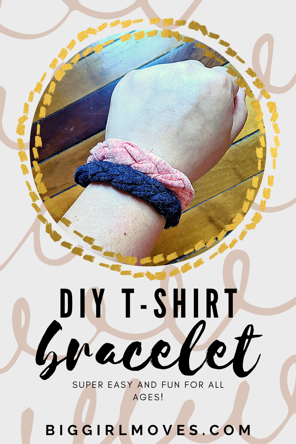 This is a super fun project to do with your kids during quarantine. They can make each other friendship bracelets out of their old play clothes! #recycle #reduce #reuse #upcycling #tshirt #bracelet #funthings #quarantine #familyfriendly #kidproject #diy #easydiy #quickdiy #video #tutorial