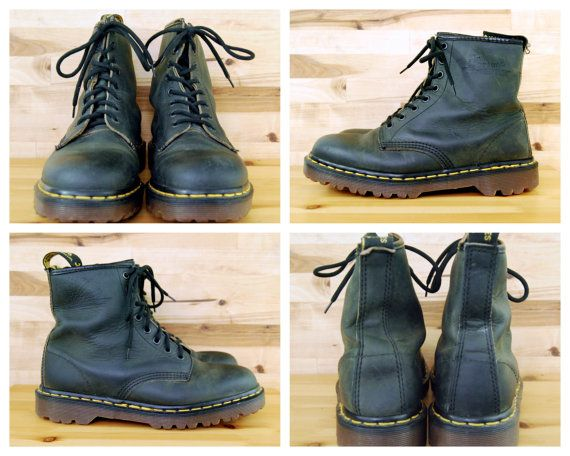 bf5b050e9f32b Vintage Doc Martens Leather Boots, Made in England // Dr. Martens ...