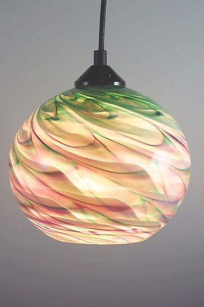 A Delightful Pendant Light Giving You Two Distinct Colors While On Or Off Cx Optic Globe Pendant By Mar Glass Pendant Lamp Glass Lighting Glass Pendant Light