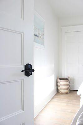 AM Dolce Vita: Front Door Paint Colour And Schlage Matte Black Lever Set