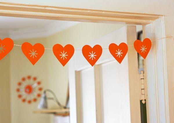 Deko Ideen Papier Herzen-Valentinstag Girlande | Herzen | Pinterest ...