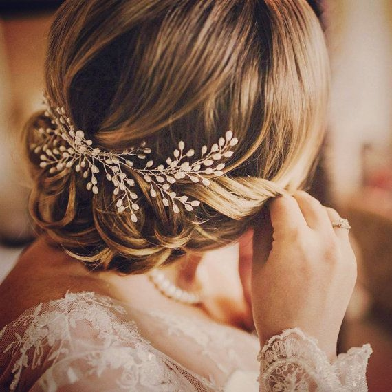 Wedding Bride Pearl Hair Accessories Hair Accessories Handmade Jewelry