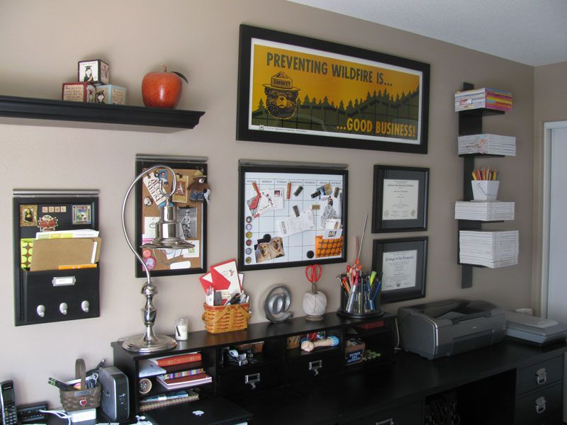 Graphic Designer Home Office Project: office wall | Creative ...