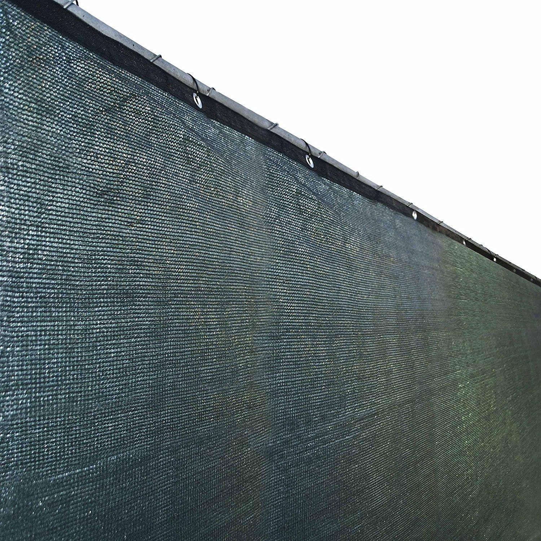 Aleko 6u0027x50u0027 Green Fence Privacy Screen Mesh Fabric With Grommets