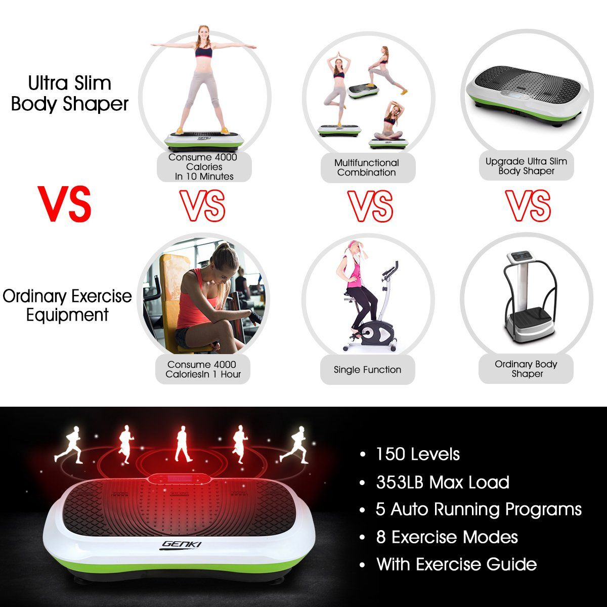045a1da4133 Slim Vibration Machine Trainer Plate Platform Body Shaper Exercise Fitness  White     Be sure to check out this awesome product. (This is an affiliate  link) ...