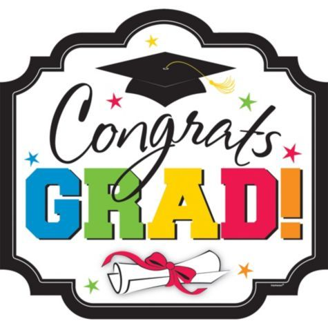 Congrats Grad Graduation Cutout 15in Wall Window