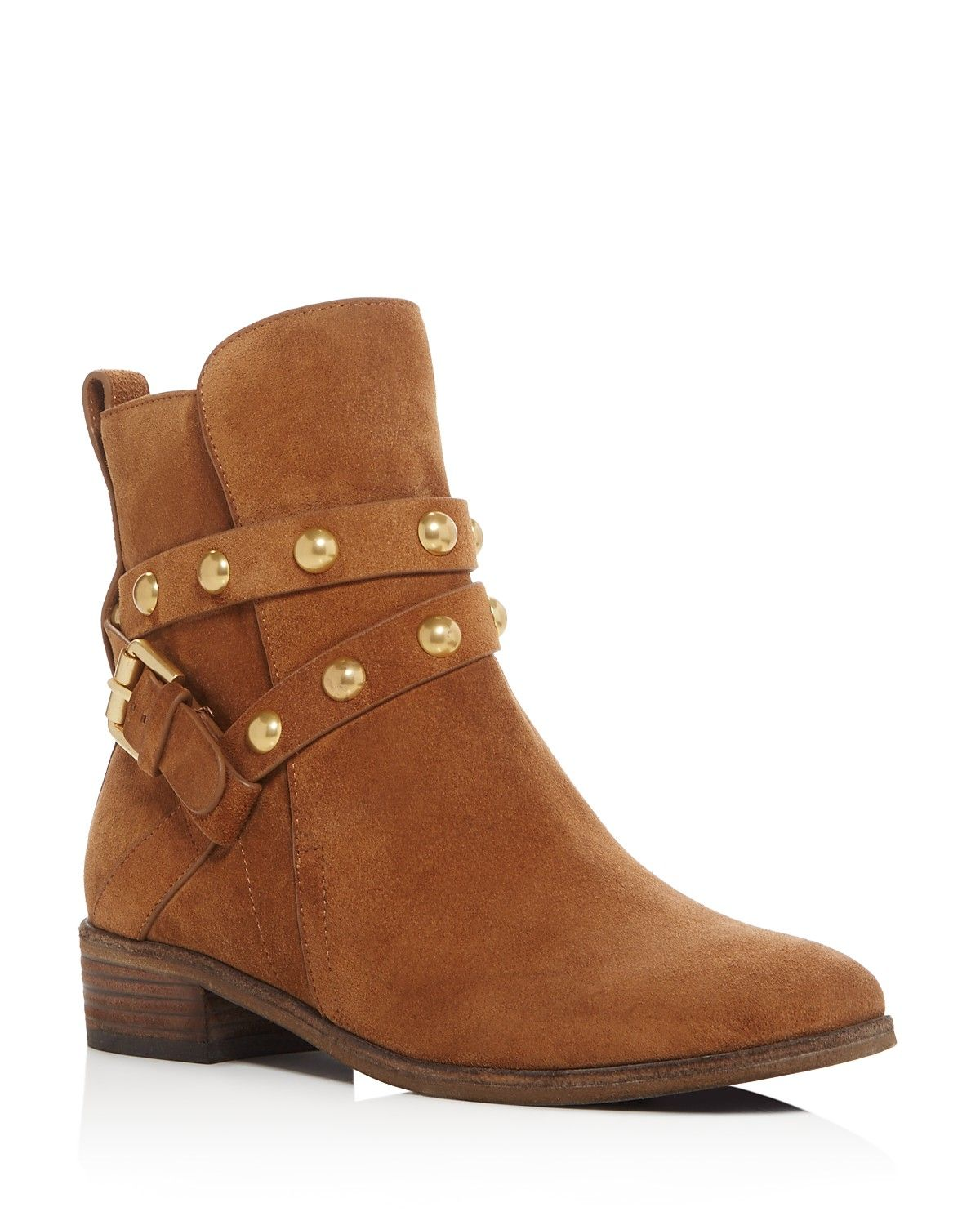 d11834c66349 See By Chloé Janis Studded Strap Flat Booties