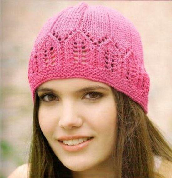 Вязание спицами узоры для вязания шапок