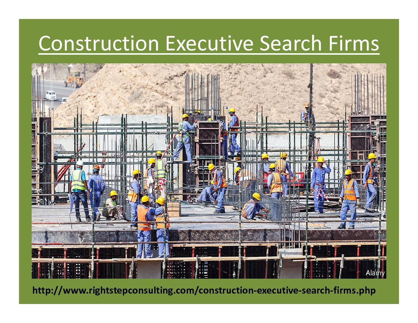Construction Executive Search Firm Executive Search