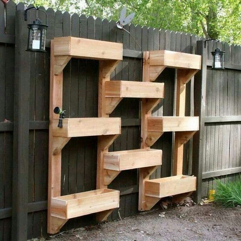 Soooo cool, space saving for a small back yard or when your dogs love to knock your plants over
