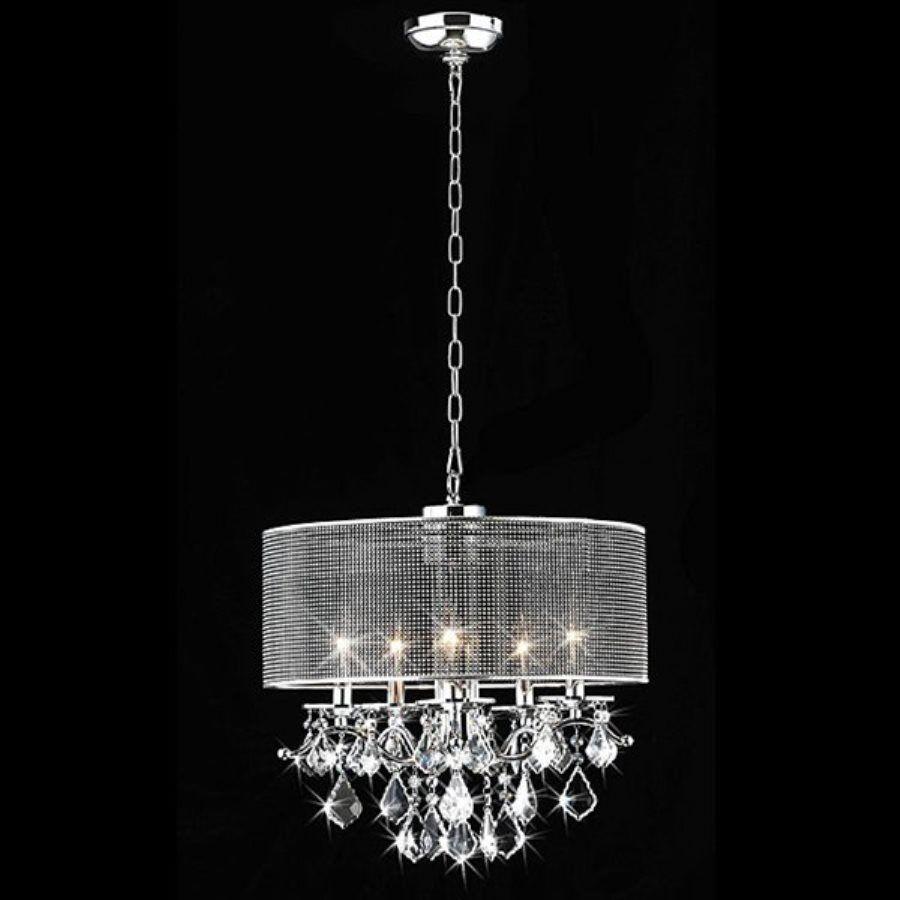 Warehouse of tiffany 18 in 5 light chrome drum chandelier rl5634 warehouse of tiffany 18 in 5 light chrome drum chandelier rl5634 arubaitofo Images
