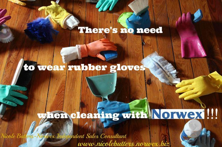 There's no need to wear rubber gloves when cleaning with Norwex...you use ONLY water! #Norwex #Microfiber #Clean