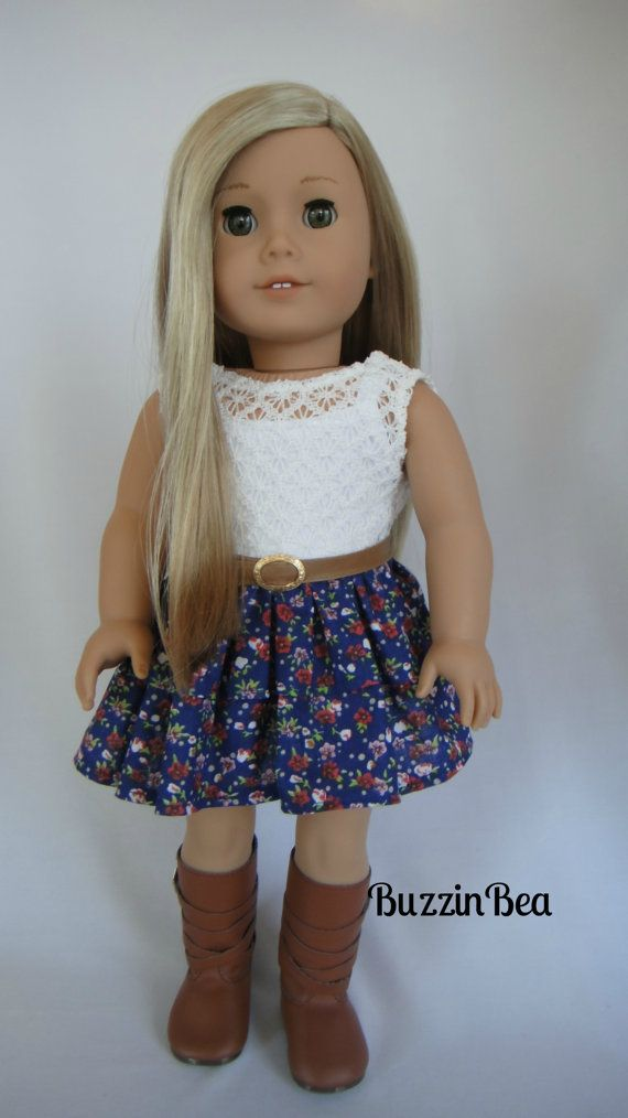 Roses and Ruffles Dress - American Girl Doll Clothes #americangirldollcrafts