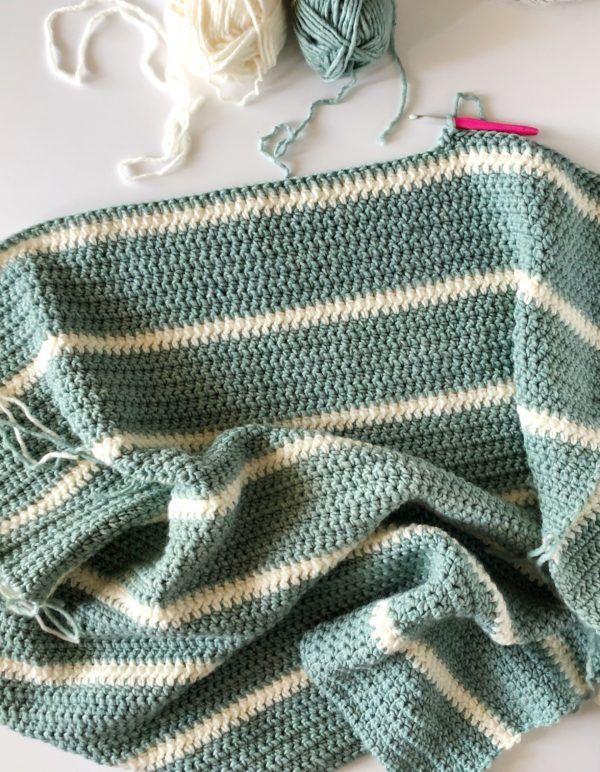 Daisy Farm Crafts Modern Low Tide Crochet Throw