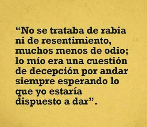 #decepcion