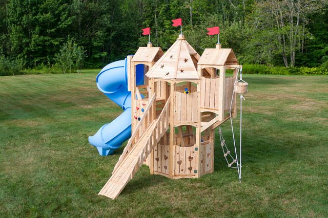 Cedarworks Frolic 9 Swingset Traditional Kids Playsets And Swing Sets Playset Outdoor Kids Play Set Swing Set