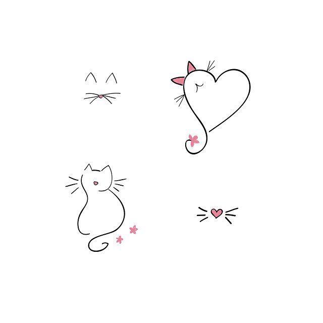 Minimal Inspiration | Inkstinct | Cat tattoo designs, Cat ...