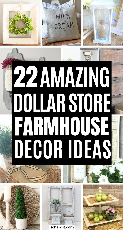 22 Amazing Dollar Store Diy Farmhouse Decor Ideas Dollar Store Diy Diy Farmhouse Decor Farmhouse Diy