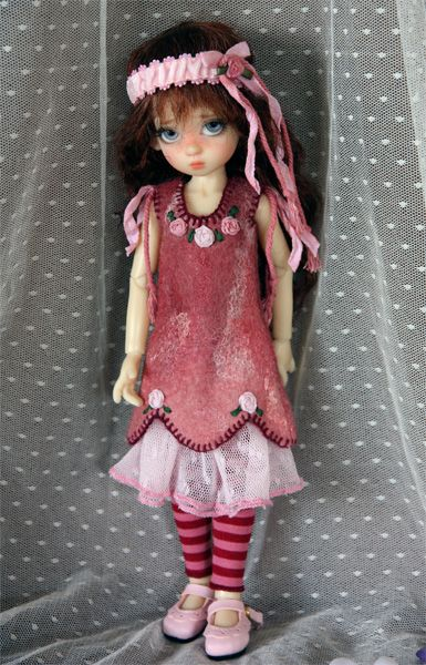 One of Kaye's Tinies, Millie, I think. Love the outfit! Wizworx