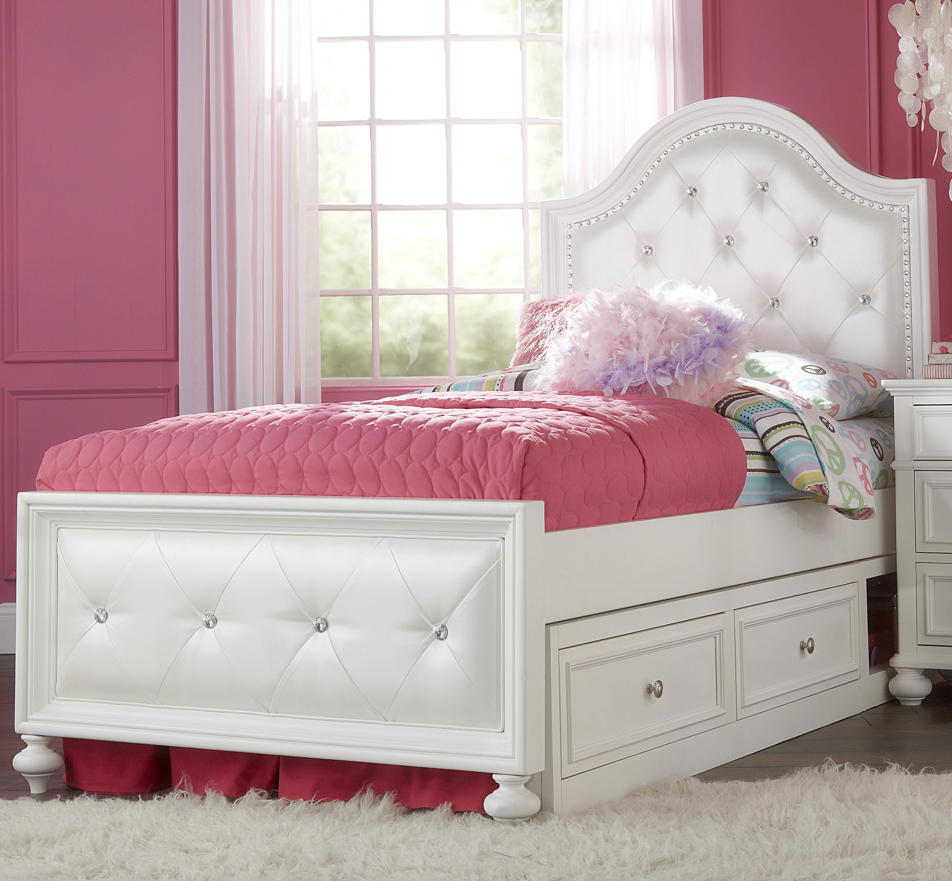 Madison Twin Upholstered Bed With Underbed Storage By Legacy