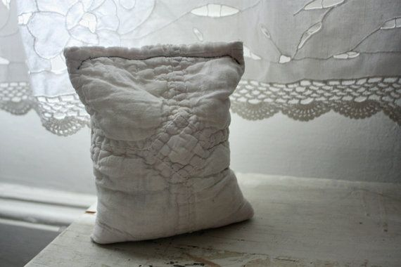 I'd love one of these pillows filled with lavender for my birthday!