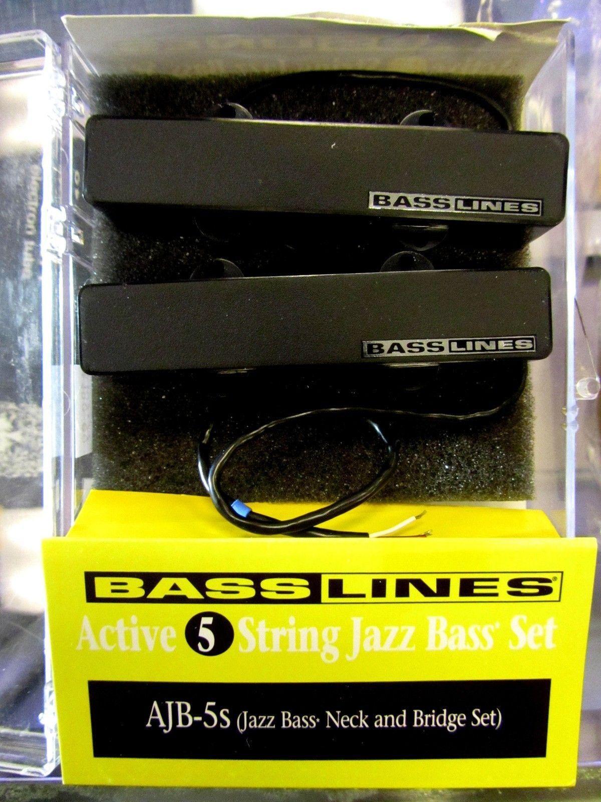 Basslines By Seymour Duncan Ajb 5 String Electric Jazz Bass Whole Lotta Humbucker Wiring Diagram Pickups