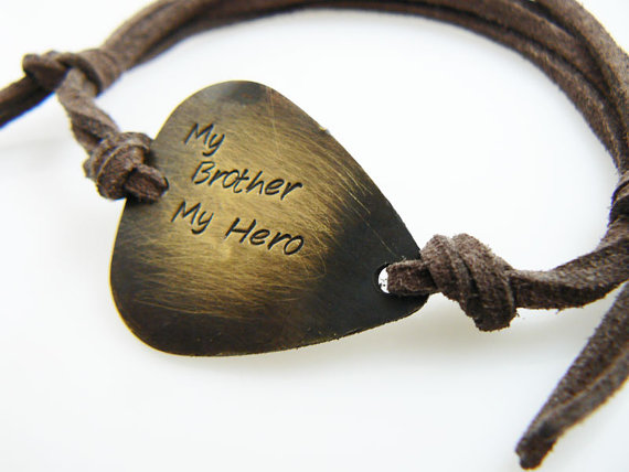 My Brother Hero Guitar Pick Bracelet Gift For By Pickmypick