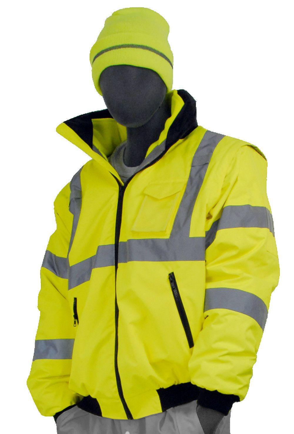 Majestic 751381 hi vis yellow transformer bomber jacket