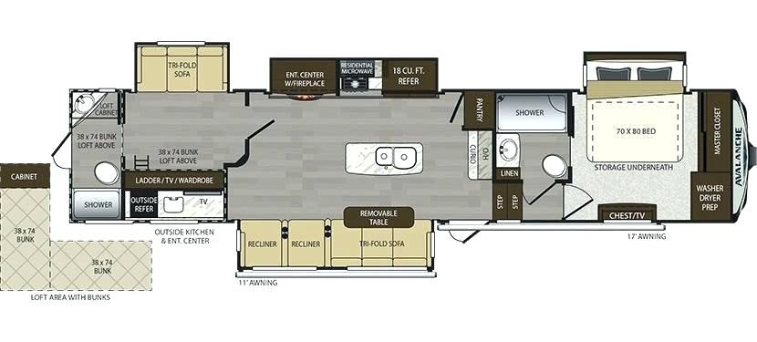 Class A 2 Bedroom Rv Google Search Floor Plans Fifth Wheel Rv Living