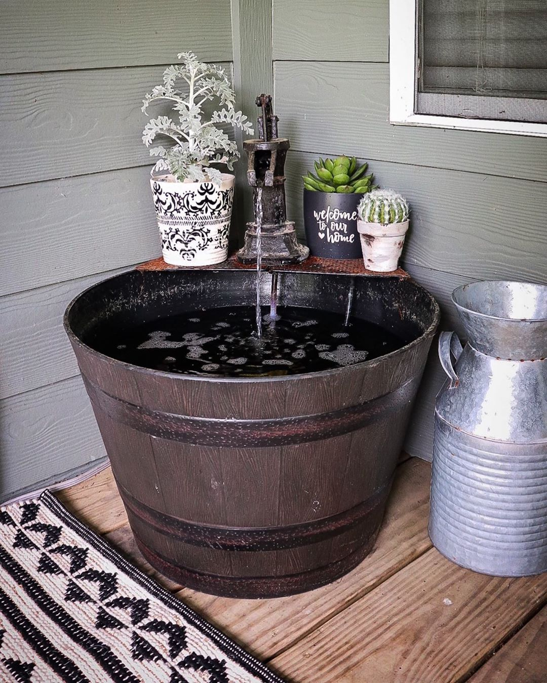 Amber On Instagram Since I Shared My Porch Earlier I Ve Had A Few Ask About My Antique Water Fountain I Original Farmhouse Diy Water Fountain Fountain