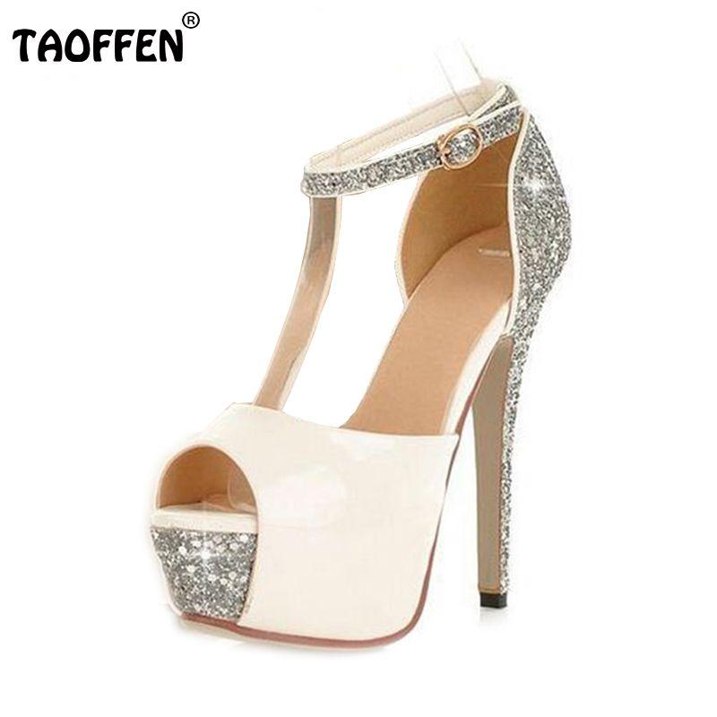 66192d6dbcca Glittering Size 34-39 Sexy High Heels Platform Shoes Pumps Women s Dress  Fashion Wedding shoes lady Pumps