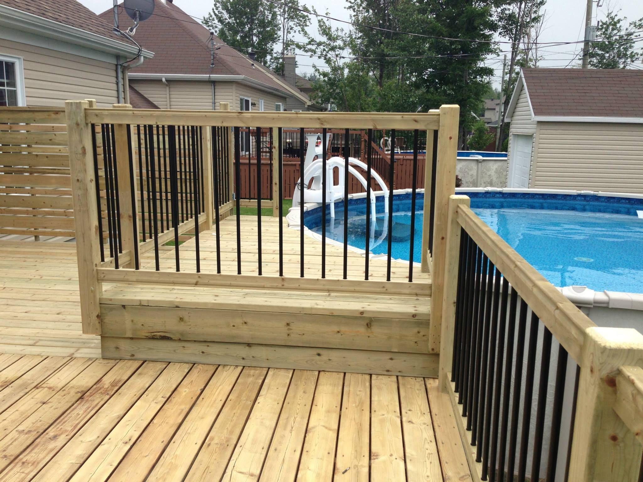 depuis plus de 30 ans nous am nageons des patios pour piscines hors terre semi creus es et. Black Bedroom Furniture Sets. Home Design Ideas